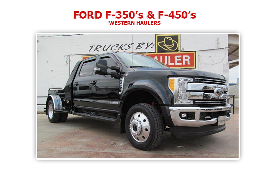 2017 Ford F350 King Ranch For Sale >> WESTERN HAULER - FORD TRUCKS